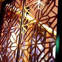 酒店装饰铝花格 铝窗花 铝隔断 木纹铝花格