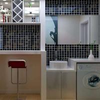 阳台洗衣机柜吊柜整体定制实木多层防水夹板现代客厅家具衣柜定制