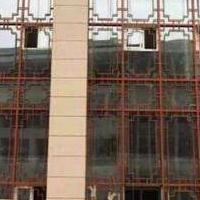 中式木纹铝合金窗花_广东木纹铝合金窗花生产厂家