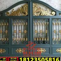 至金金属厂家定制欧式铝艺大门庭院门栏杆楼梯扶手铁艺大门