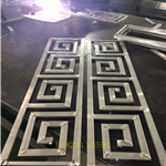 木色花格_铝合金窗花仿古式,厂家专业设计供应