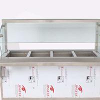 北京厨具设备_明档厨房保温售饭台厂家直销保修一年