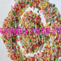 鱼缸铺底造景用的彩色石子 园艺花卉铺面装饰用的彩色小米石
