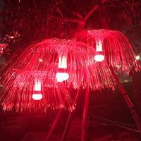 灯光节光纤水母灯七彩水母灯花海街道树木广场景观亮化水母灯