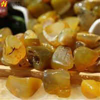 黄玛瑙粒 彩石装饰 卵石装饰