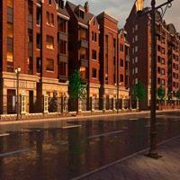 德普龙品牌步行街仿古装修仿古铝窗花_铝合金门窗_木纹铝花格
