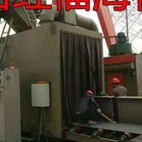 喷砂机抛丸机生产商广东红福海大型通过式抛丸机石材大理石打沙机