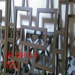 仿古木纹铝制品花格子-木纹铝合金花窗厂家定制