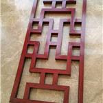 苏州市来图定制中式仿木纹铝屏风古典木纹铝窗花厂家