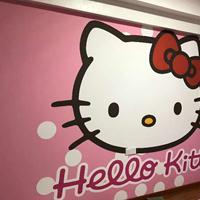专业供应kitty猫 城堡油画布无缝壁画