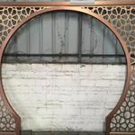 供应新款艺术木纹铝窗花-定制各种创意铝窗花 品种齐全