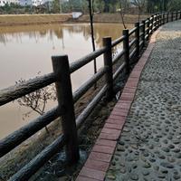 河池仿树皮栏杆图片_柳州景区仿木护栏厂家_桂林水泥仿竹栏杆价格