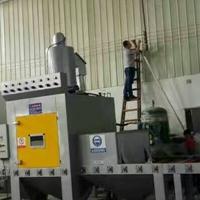水晶灯蒙砂效果处理设备 红海玻璃喷砂机