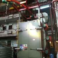 电烤箱油漆处理喷砂机佛山吊钩式抛丸机电镀挂具处理打沙机厂家