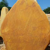 山西黄蜡石刻字石头 石材园林假山草坪石风景石黄蜡石批发