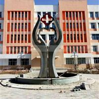 304医院不锈钢雕塑 不锈钢医院雕塑厂家