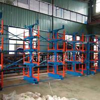 伸缩悬臂式货架吊车存放管材 棒材 圆钢 型材 钢材 工角槽钢