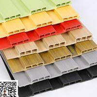 开原工厂直销生态木墙板 204长城板经典木纹PVC木塑装饰