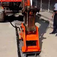 挖掘机打夯机振动夯如何安装-平面压实振动夯