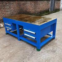 配动力电源插座模具桌 榉木实木台面模具桌 注塑机旁模具桌