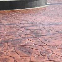 固原彩色地坪压模彩色路面制作普林德建材品质可靠
