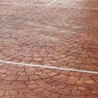中卫彩色地坪压模混凝土材料地面模具施工压模地坪造价多少钱?