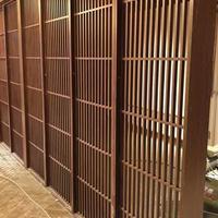韩国餐馆中式仿古焊接铝花格 门头墙身装饰铝花格窗