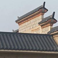 徽派建筑用什么瓦好 新型防腐隔热高分子瓦 终身无需维修