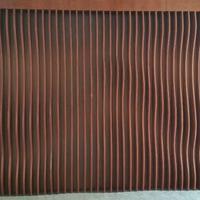 装饰弧形铝方通 现代化建筑装饰工程 木纹波浪形铝方通吊顶厂家
