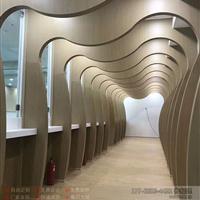 酒店装饰弧形铝方通,木纹波浪形铝方通吊顶厂家