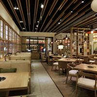 铝方通生产厂家汽车4S店走廊酒店门面写字楼木纹铝方通设计效果图