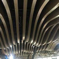 弧形铝方通外墙装饰材料天花吊顶设计现代风格弧形铝方通厂家直销