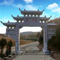 石牌楼-大理石牌坊-古建门楼定做厂家-曲阳县石隆石雕工艺厂
