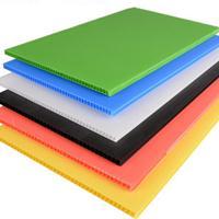 防静电中空板pp板 白色聚丙烯塑料隔板万通瓦楞板围板塑料板材