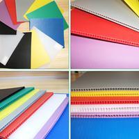 pp塑料板材加工 环保阻燃防静电瓦楞中空板彩色蜂窝塑料万通板