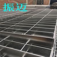 汇流渠过桥钢格栅平台板-镀锌钢格栅平台规格价格