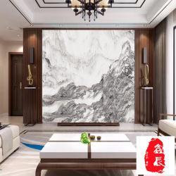 天然山水纹石材 山水纹大理石 天然山水画大理石客厅电视沙发背景
