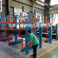 伸缩式悬臂货架为全国客户存放管材贡献力量