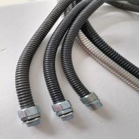 内径20mm包塑金属软管供应 黑色pvc包塑金属软管